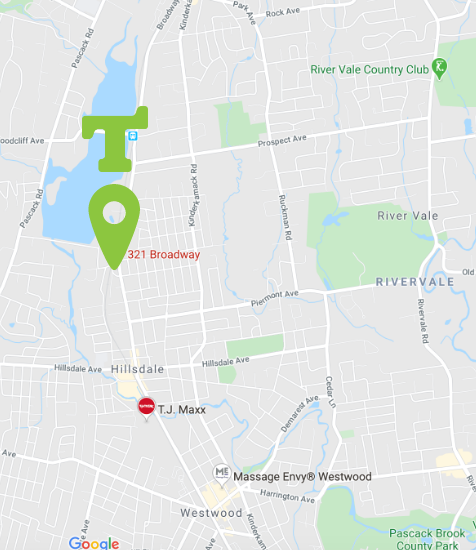 Location map of Tumbles Hillsdale